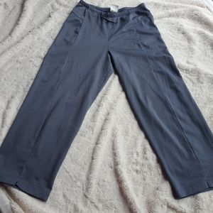 Grey Adidas crop pants.